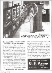 ENIAC- Fushate Reklame e US ARMY, viti 1946